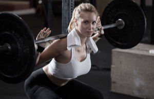 Skivstång, övningar med fria vikter