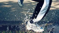 löpning i regn oväder